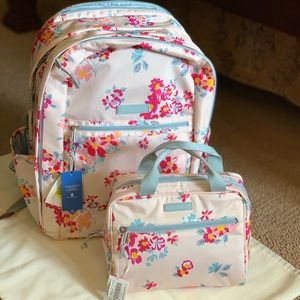 Vera Bradley lighten-up grand Backpack set